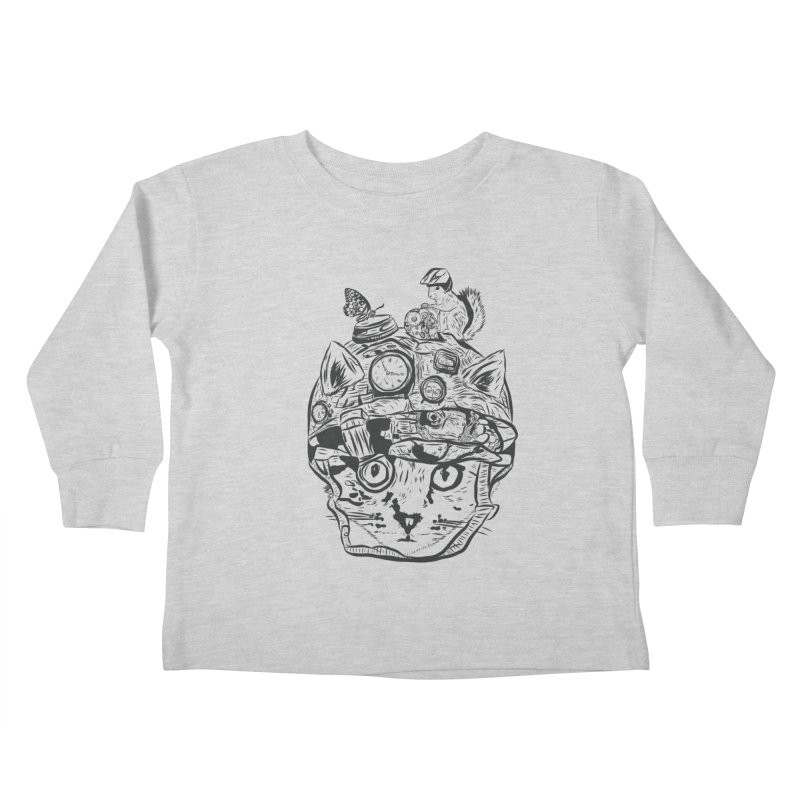 Make Your Own Time Machine Black and White Kids Toddler Longsleeve T-Shirt by Time Machine Supplies
