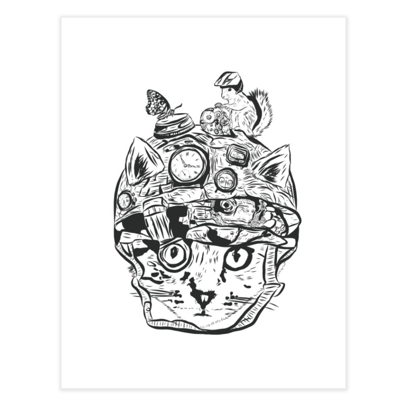 Make Your Own Time Machine Black and White Home Fine Art Print by Time Machine Supplies