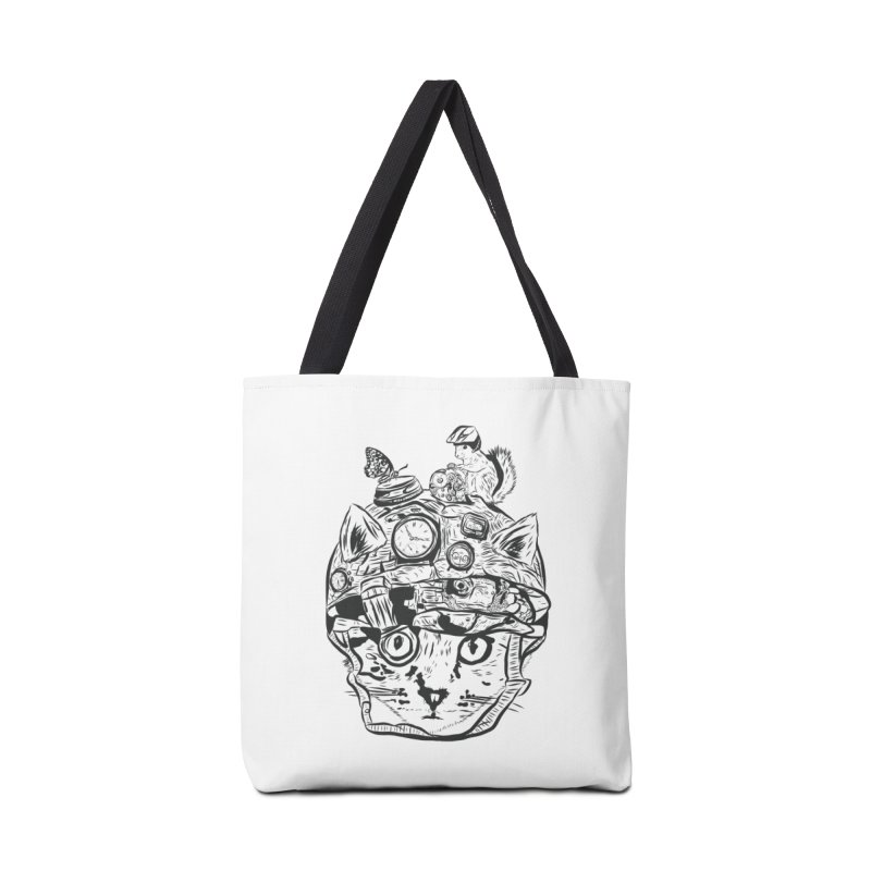 Make Your Own Time Machine Black and White Accessories Tote Bag Bag by Time Machine Supplies