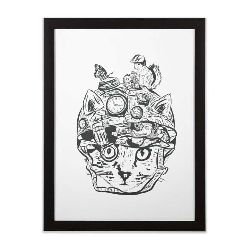 Make Your Own Time Machine Black and White Home Framed Fine Art Print by Time Machine Supplies