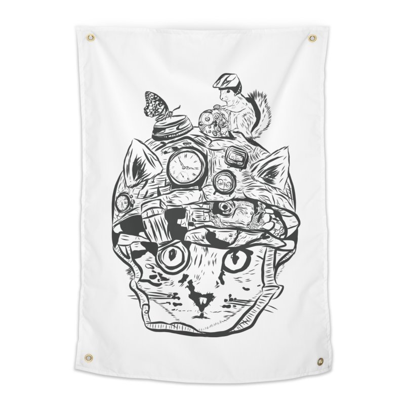 Make Your Own Time Machine Black and White Home Tapestry by Time Machine Supplies