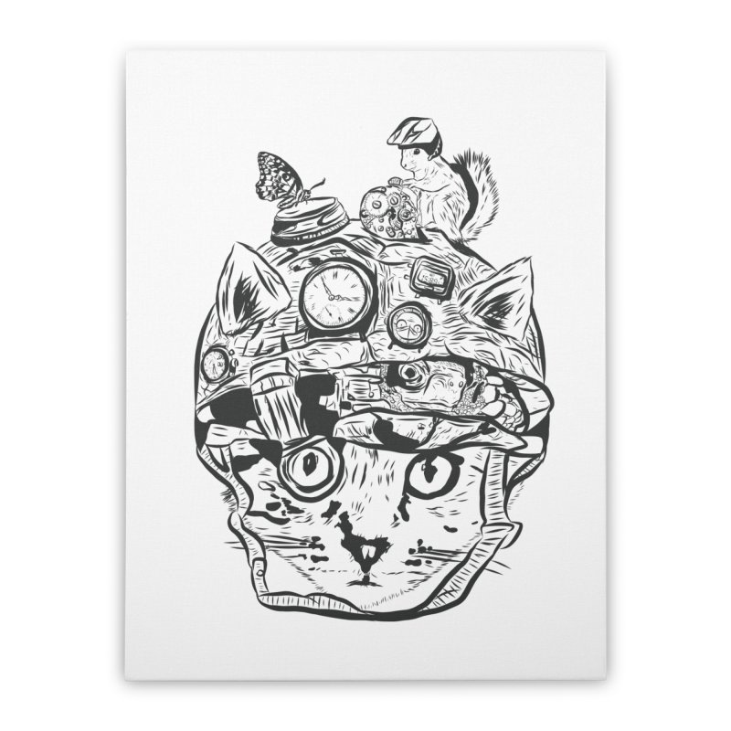 Make Your Own Time Machine Black and White Home Stretched Canvas by Time Machine Supplies