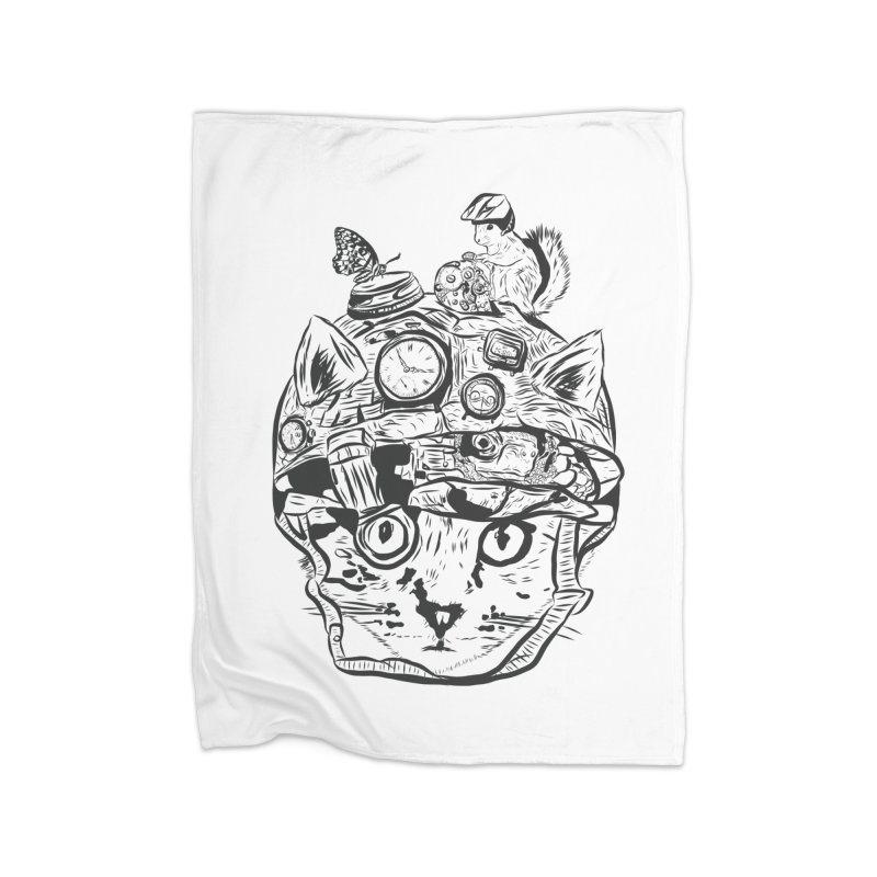 Make Your Own Time Machine Black and White Home Fleece Blanket Blanket by Time Machine Supplies