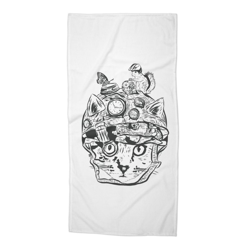 Make Your Own Time Machine Black and White Accessories Beach Towel by Time Machine Supplies