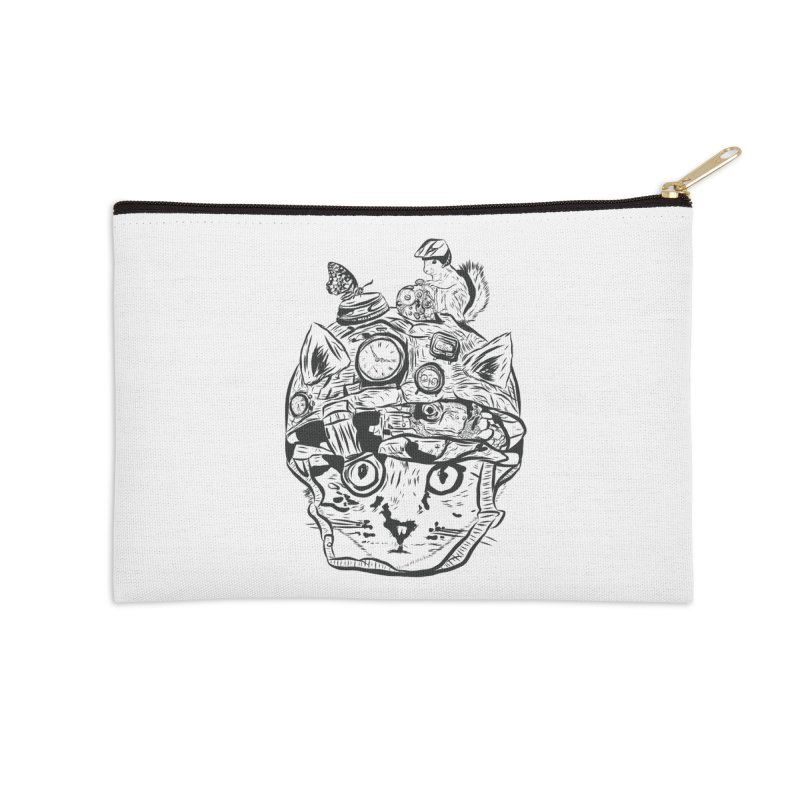 Make Your Own Time Machine Black and White Accessories Zip Pouch by Time Machine Supplies