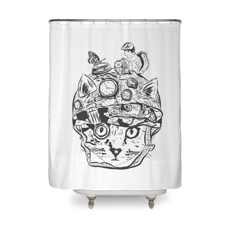 Make Your Own Time Machine Black and White Home Shower Curtain by Time Machine Supplies