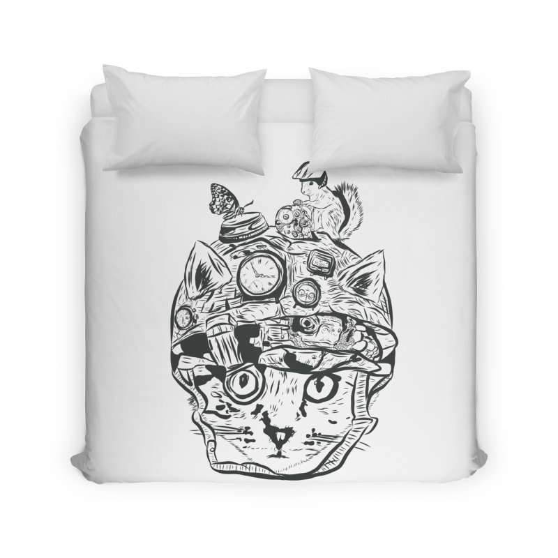 Make Your Own Time Machine Black and White Home Duvet by Time Machine Supplies