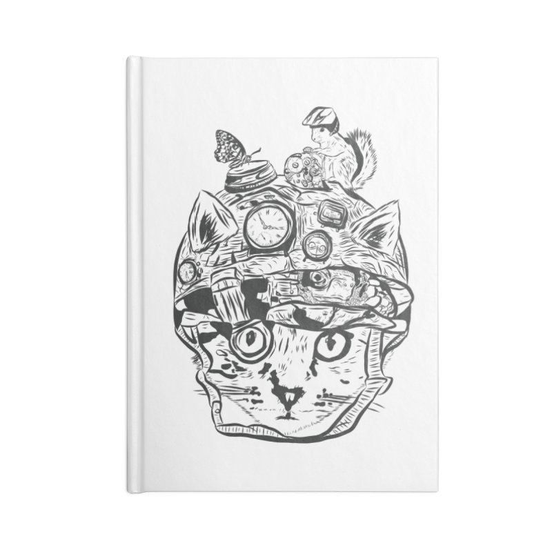Make Your Own Time Machine Black and White Accessories Blank Journal Notebook by Time Machine Supplies