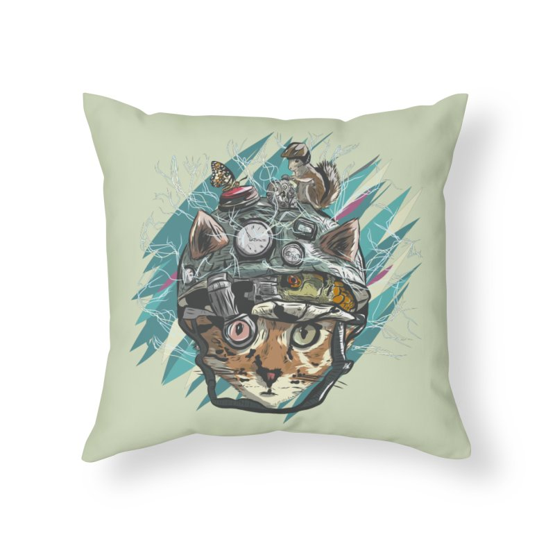 Make Your Own Time Machine Home Throw Pillow by Time Machine Supplies