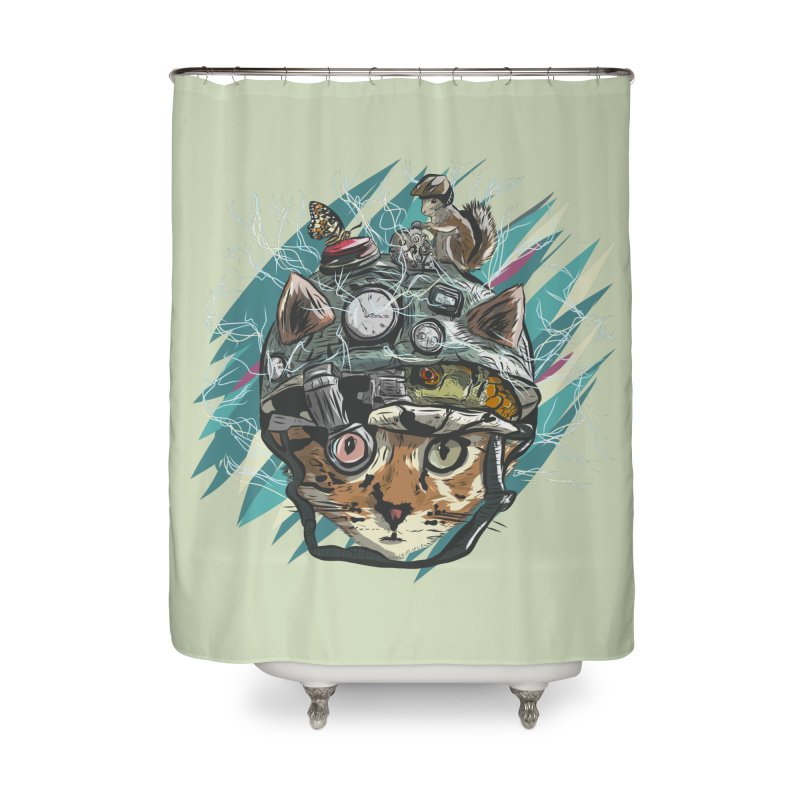 Make Your Own Time Machine Home Shower Curtain by Time Machine Supplies