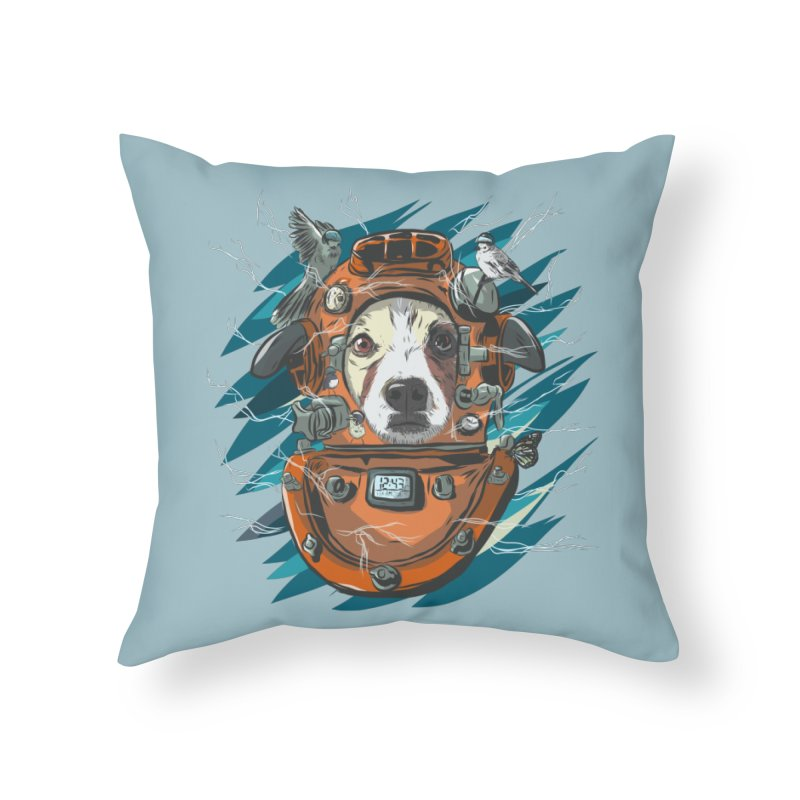 Homemade Time Machine Home Throw Pillow by Time Machine Supplies