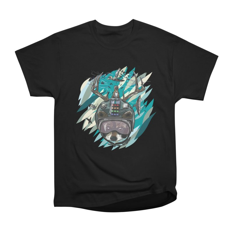 Time Hat Men's Heavyweight T-Shirt by Time Machine Supplies