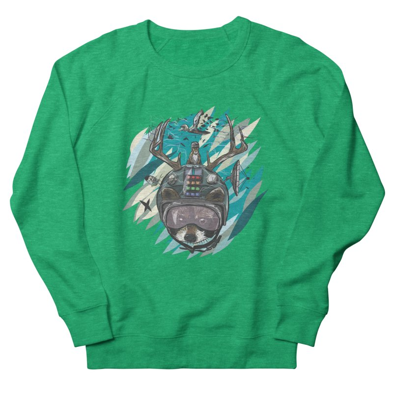 Time Hat Women's French Terry Sweatshirt by Time Machine Supplies