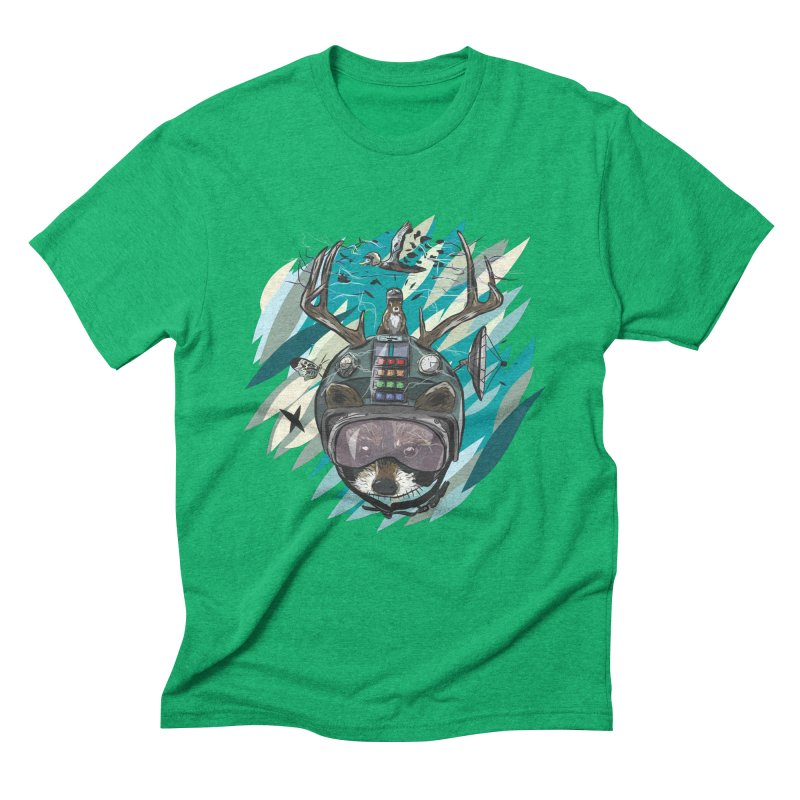 Time Hat Men's Triblend T-Shirt by Time Machine Supplies