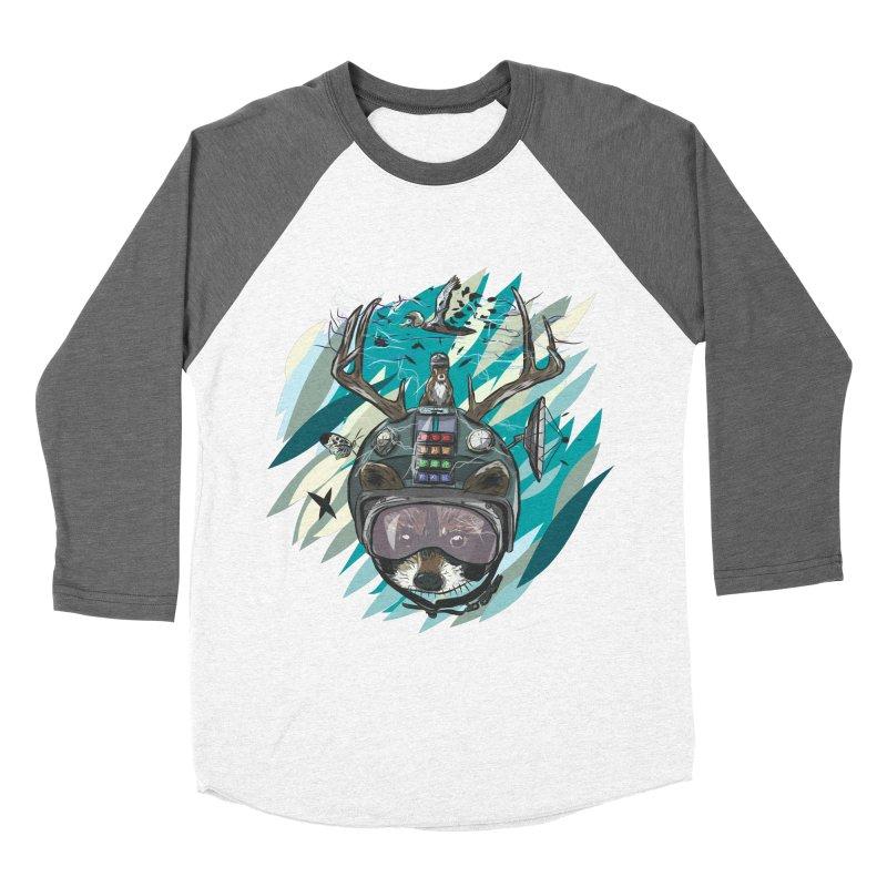 Time Hat Women's Baseball Triblend Longsleeve T-Shirt by Time Machine Supplies