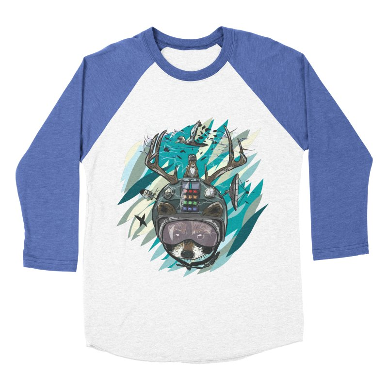 Time Hat Men's Baseball Triblend Longsleeve T-Shirt by Time Machine Supplies