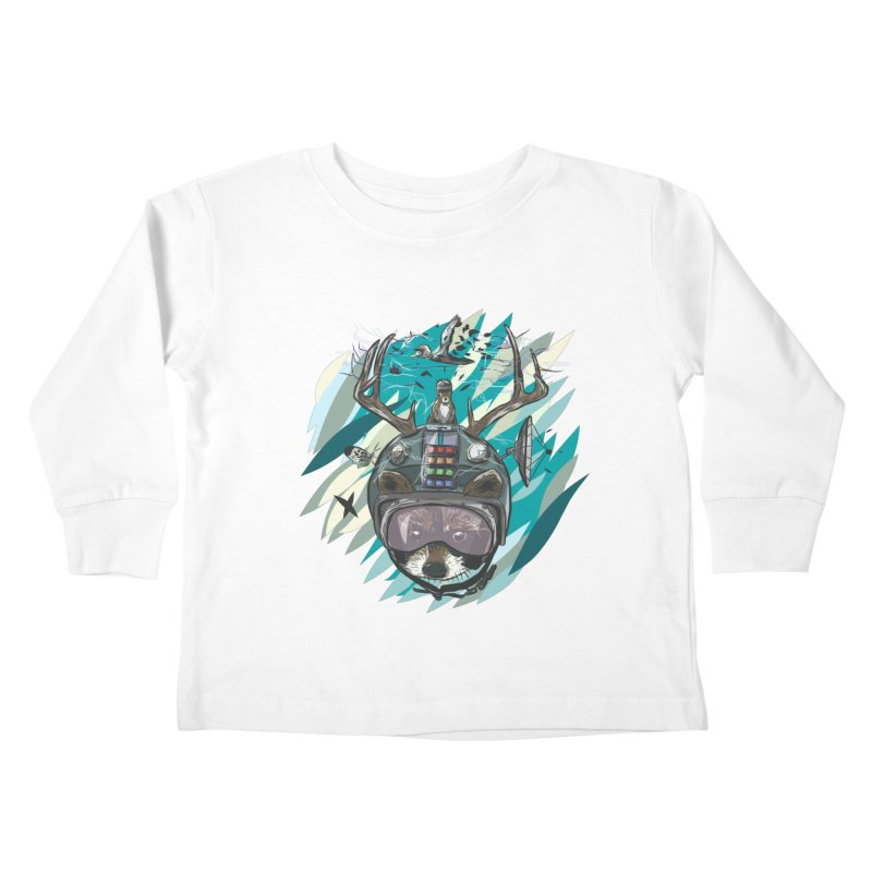 Time Hat Kids Toddler Longsleeve T-Shirt by Time Machine Supplies
