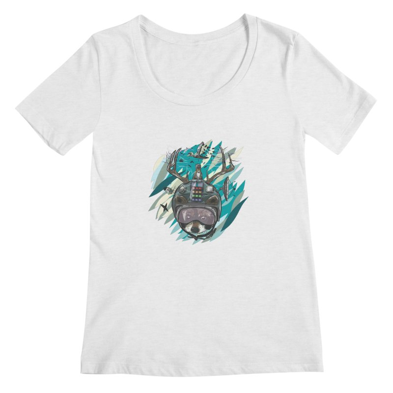 Time Hat Women's Regular Scoop Neck by Time Machine Supplies