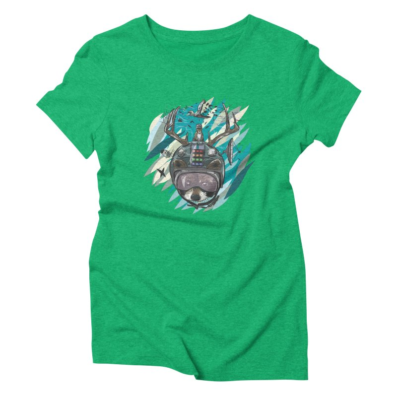 Time Hat Women's Triblend T-Shirt by Time Machine Supplies