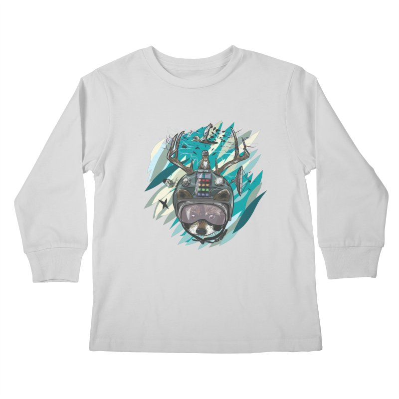 Time Hat Kids Longsleeve T-Shirt by Time Machine Supplies