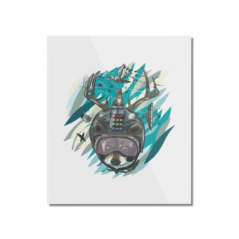 Time Hat Home Mounted Acrylic Print by Time Machine Supplies