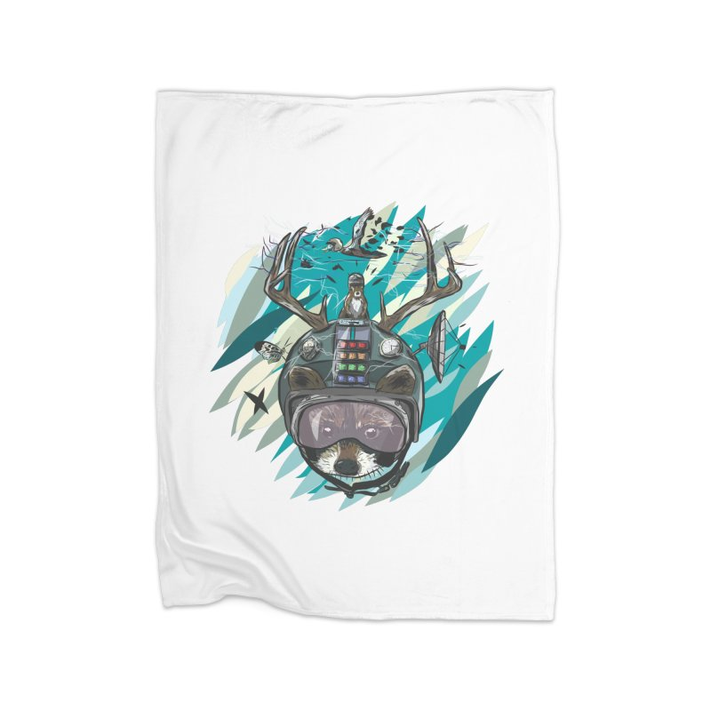 Time Hat Home Fleece Blanket Blanket by Time Machine Supplies