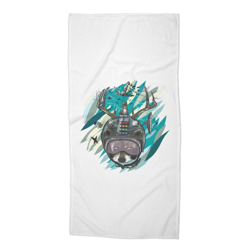 Time Hat Accessories Beach Towel by Time Machine Supplies