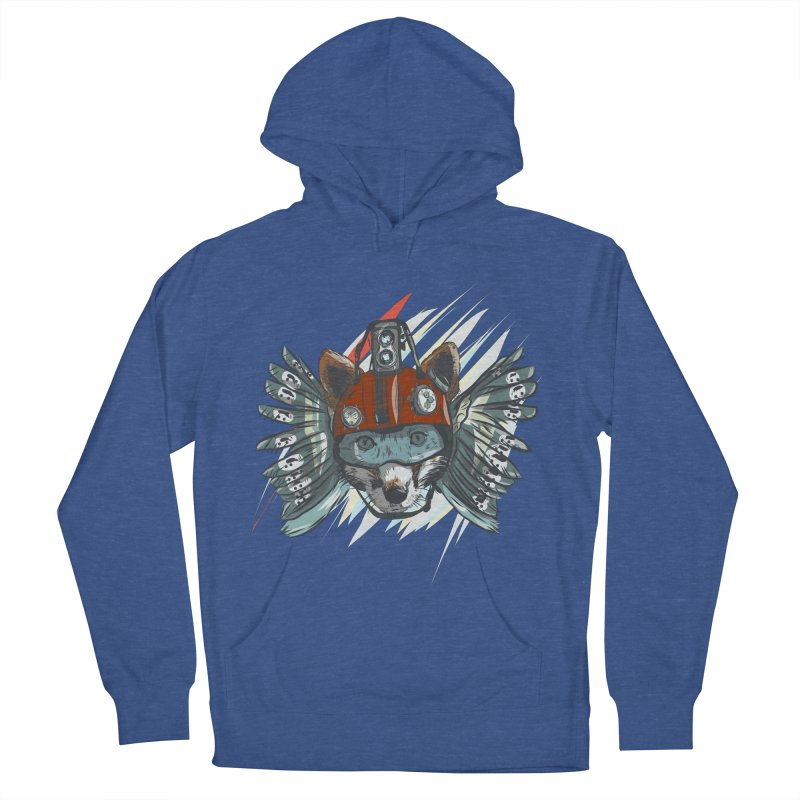 Wings of a Time Fox Men's French Terry Pullover Hoody by Time Machine Supplies