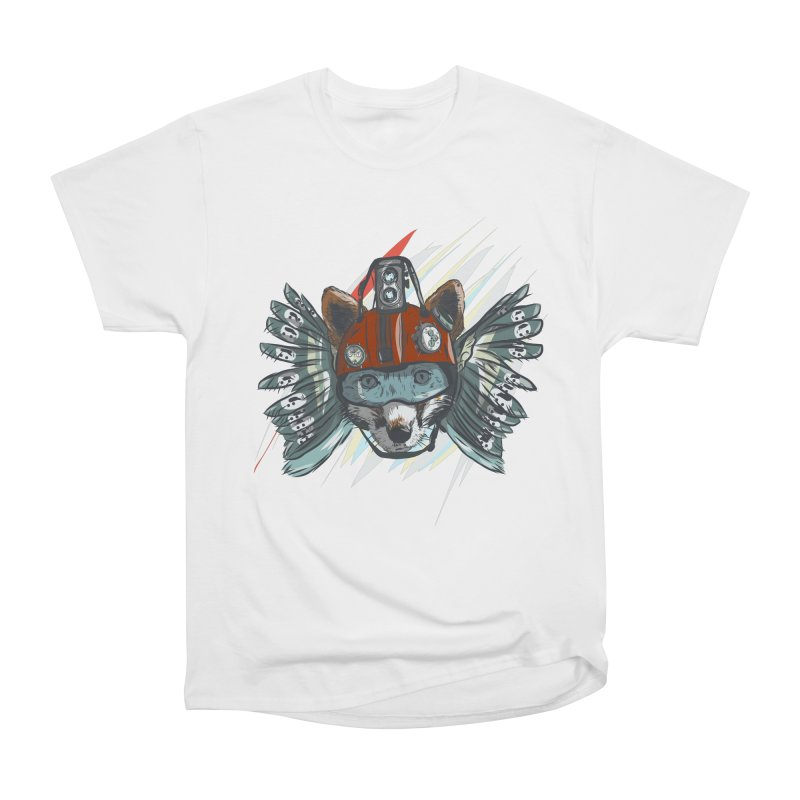 Wings of a Time Fox Men's Heavyweight T-Shirt by Time Machine Supplies