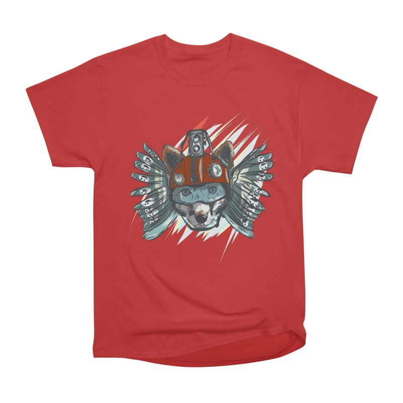 Wings of a Time Fox Women's Heavyweight Unisex T-Shirt by Time Machine Supplies