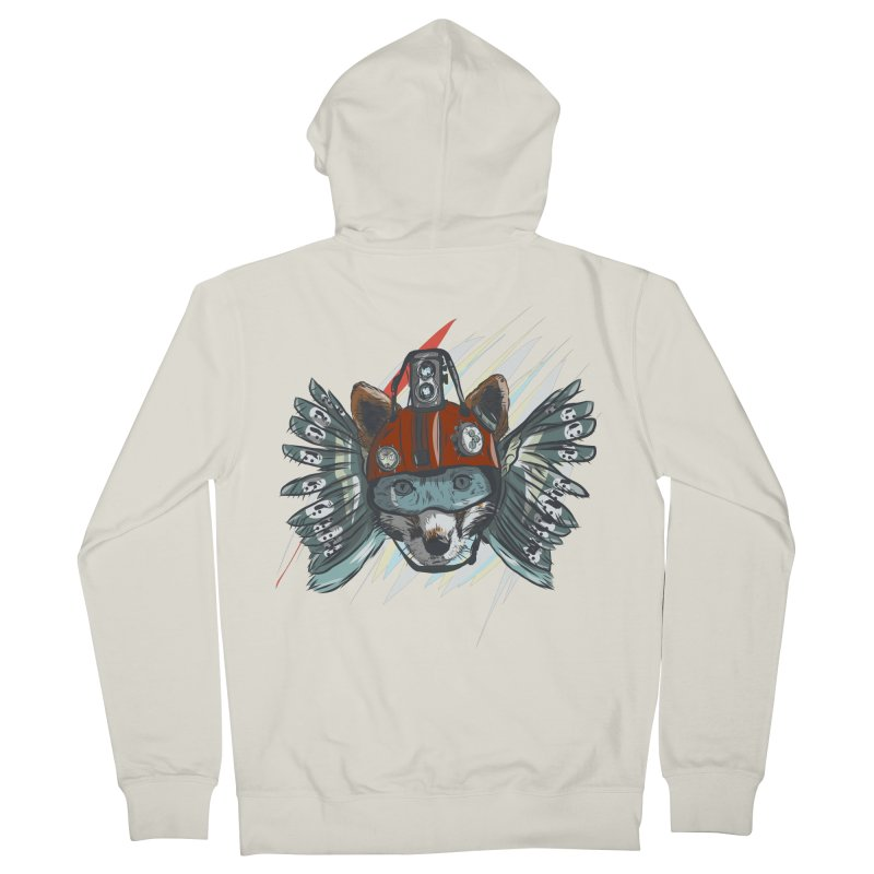 Wings of a Time Fox Women's French Terry Zip-Up Hoody by Time Machine Supplies