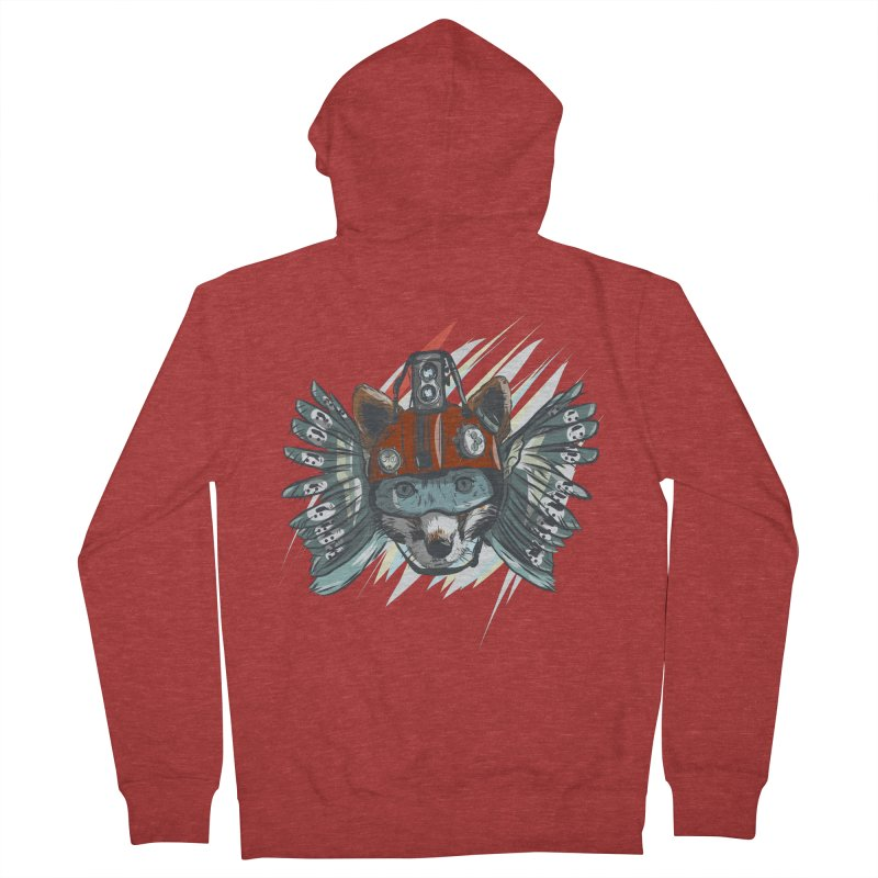 Wings of a Time Fox Men's French Terry Zip-Up Hoody by Time Machine Supplies