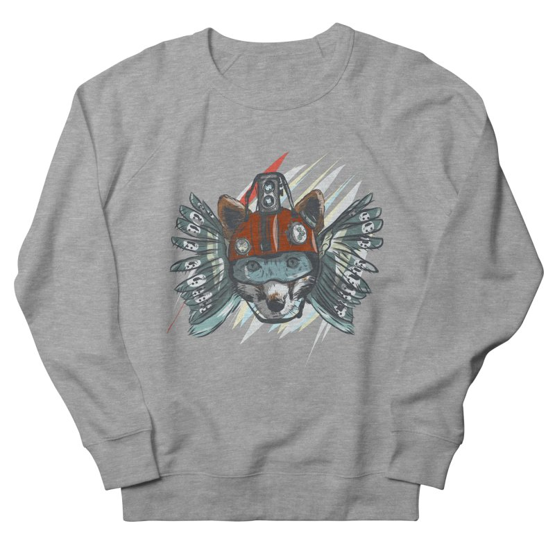 Wings of a Time Fox Men's French Terry Sweatshirt by Time Machine Supplies