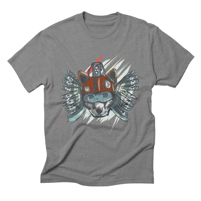 Wings of a Time Fox Men's Triblend T-Shirt by Time Machine Supplies