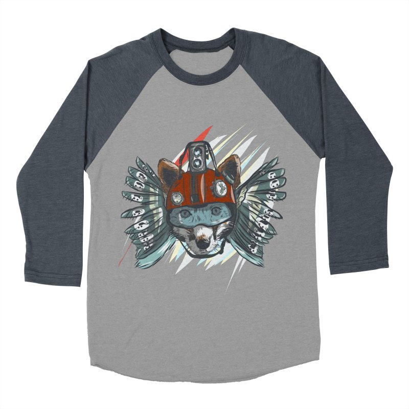 Wings of a Time Fox Women's Baseball Triblend Longsleeve T-Shirt by Time Machine Supplies