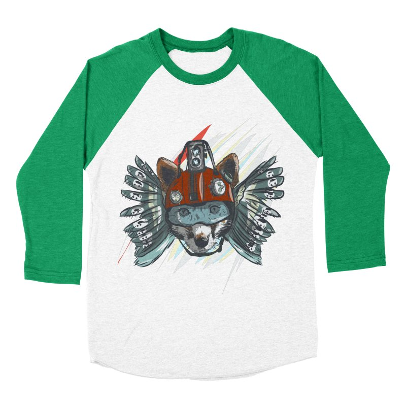 Wings of a Time Fox Men's Baseball Triblend Longsleeve T-Shirt by Time Machine Supplies