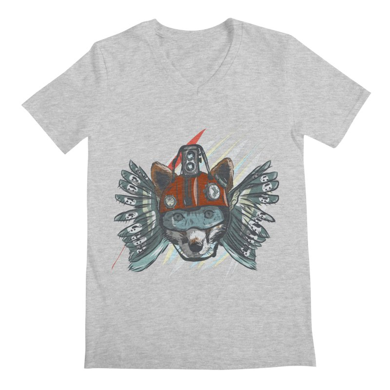 Wings of a Time Fox Men's Regular V-Neck by Time Machine Supplies