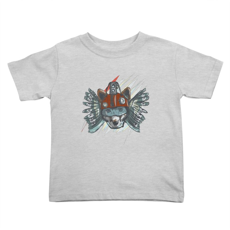 Wings of a Time Fox Kids Toddler T-Shirt by Time Machine Supplies