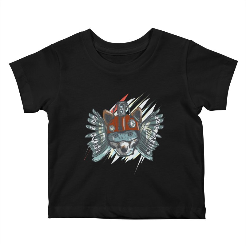 Wings of a Time Fox Kids Baby T-Shirt by Time Machine Supplies
