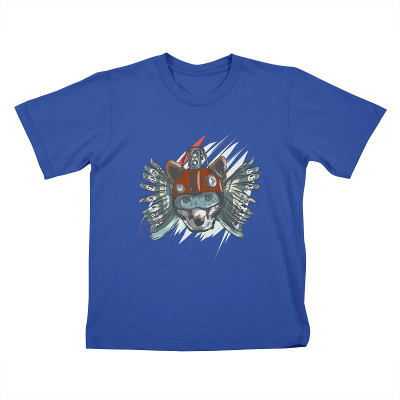 Wings of a Time Fox Kids T-Shirt by Time Machine Supplies