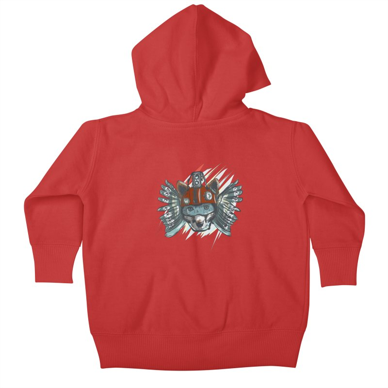 Wings of a Time Fox Kids Baby Zip-Up Hoody by Time Machine Supplies