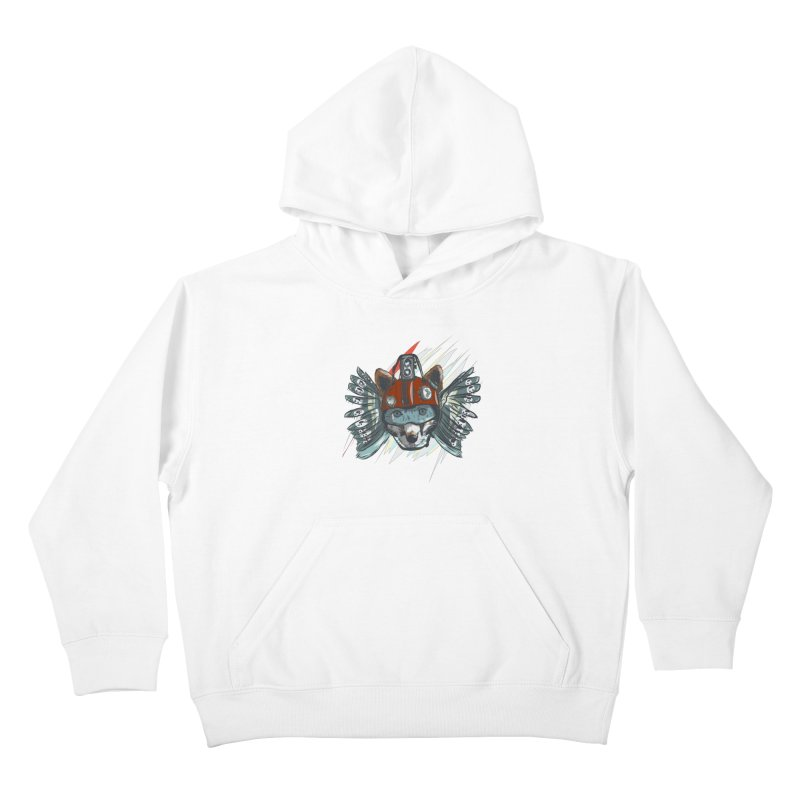 Wings of a Time Fox Kids Pullover Hoody by Time Machine Supplies