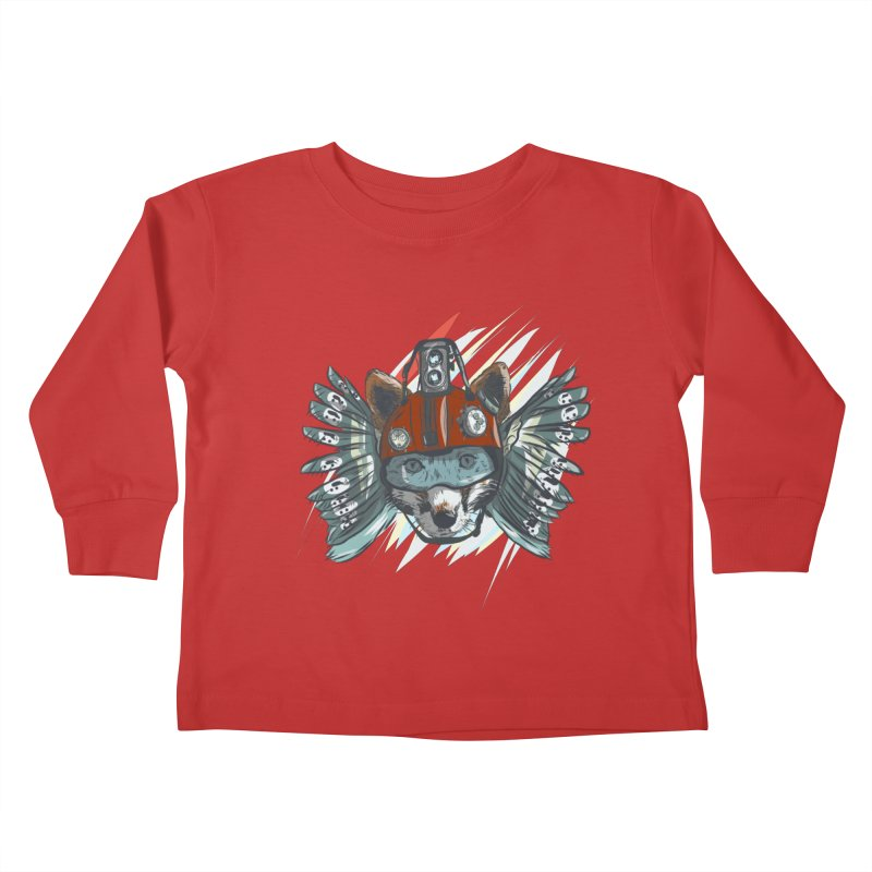 Wings of a Time Fox Kids Toddler Longsleeve T-Shirt by Time Machine Supplies