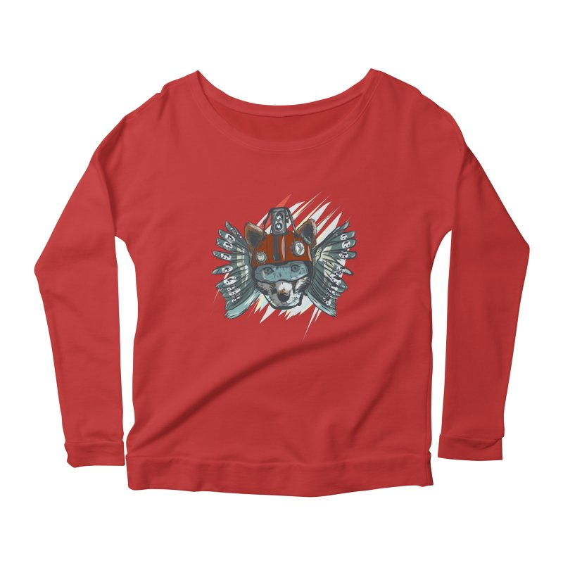 Wings of a Time Fox Women's Scoop Neck Longsleeve T-Shirt by Time Machine Supplies