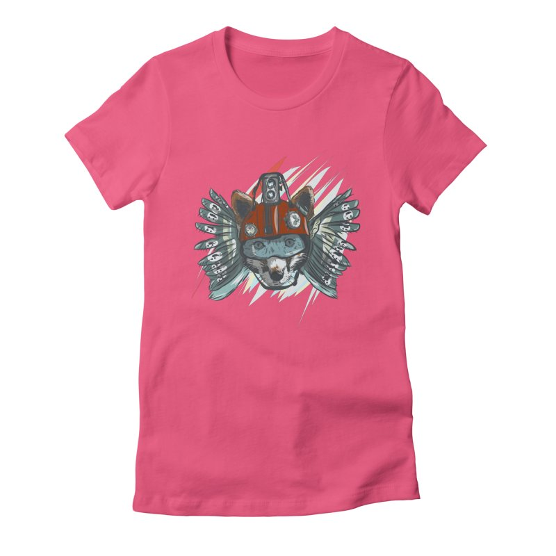 Wings of a Time Fox Women's Fitted T-Shirt by Time Machine Supplies