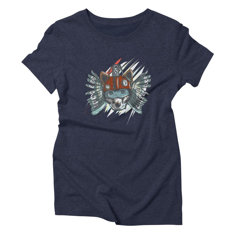 Wings of a Time Fox Women's Triblend T-Shirt by Time Machine Supplies