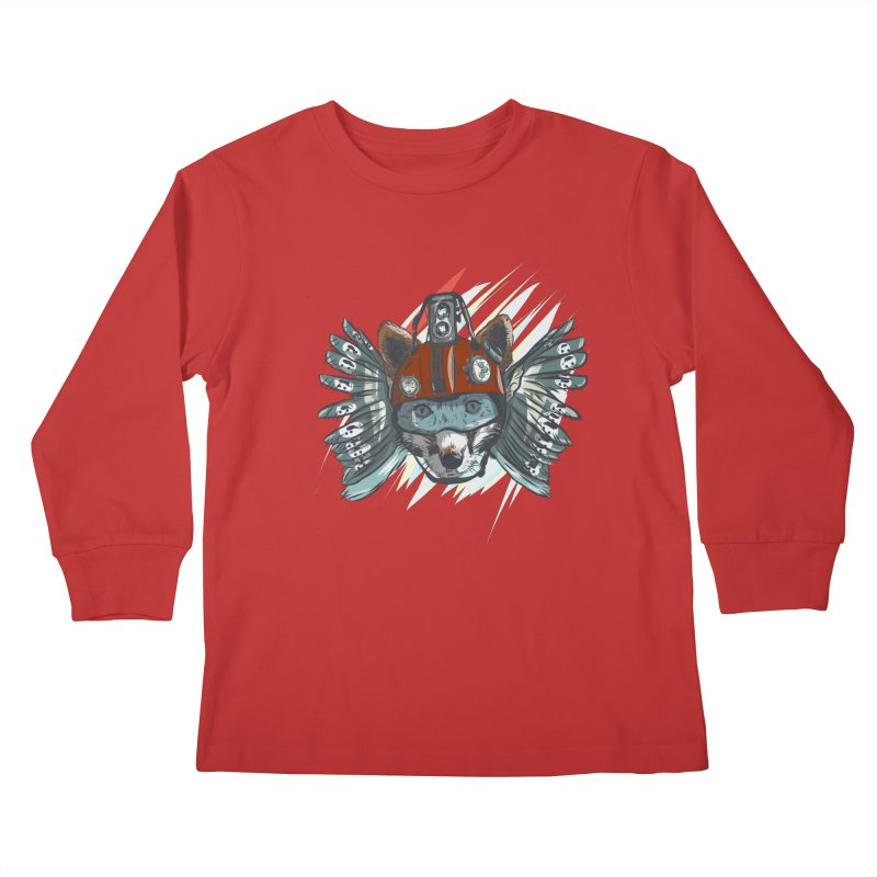 Wings of a Time Fox Kids Longsleeve T-Shirt by Time Machine Supplies