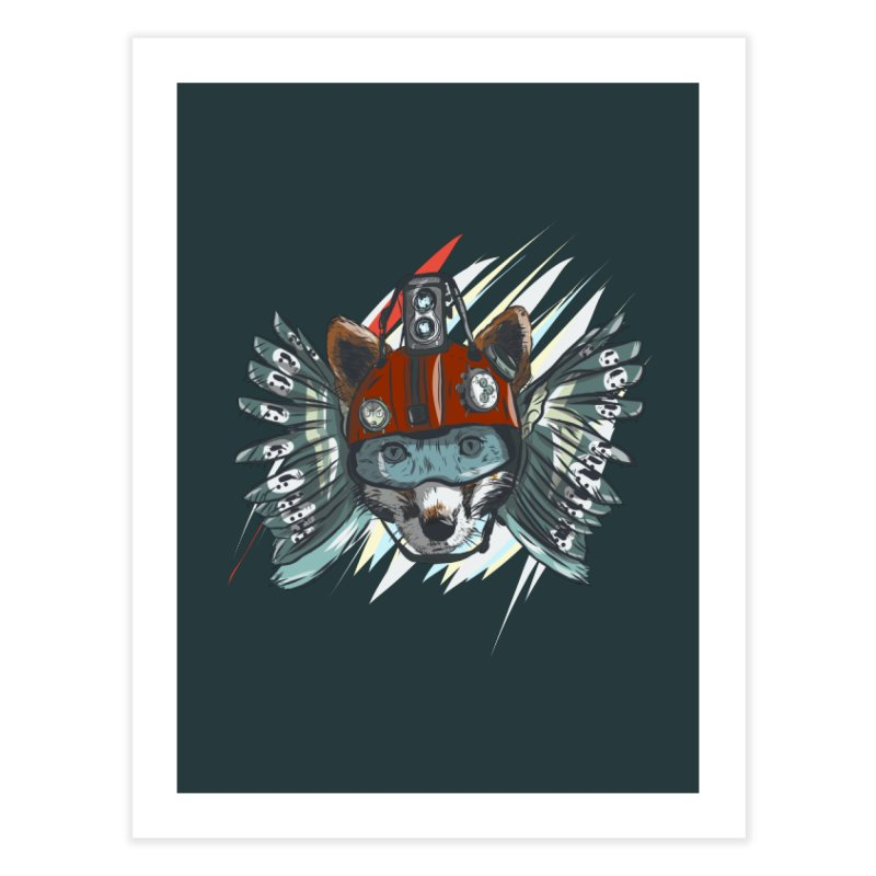 Wings of a Time Fox Home Fine Art Print by Time Machine Supplies