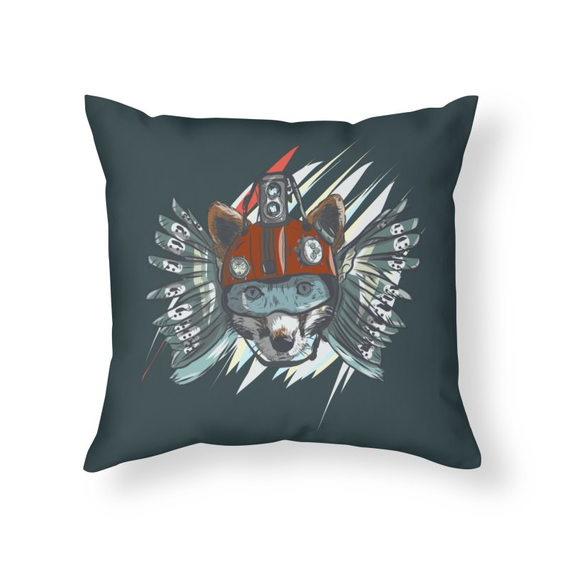 Wings of a Time Fox Home Throw Pillow by Time Machine Supplies