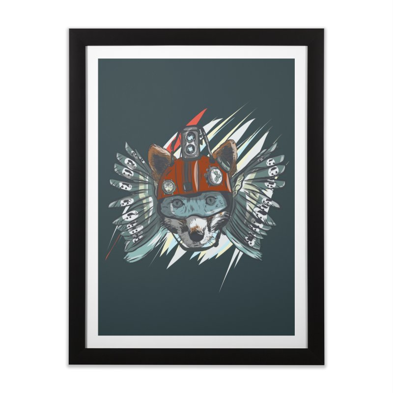 Wings of a Time Fox Home Framed Fine Art Print by Time Machine Supplies